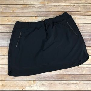 Athleta black skirt with zippers size 2X skort